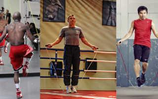 Упражнения со скакалкой в боксе. Тренировка на скакалке. Улучшается работа ног