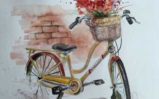 Рисуем велосипед карандашом. Как нарисовать велосипед карандашом поэтапно