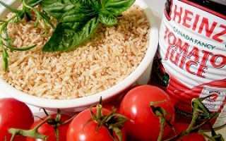 Сытная диета с рисом и томатным соком. Томатная диета — диета на томатном соке для похудения с рисом, гречкой